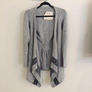 Alpaca wool knit long cardigan